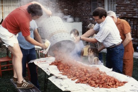 Crawfish Boil in Breaux Bridge.