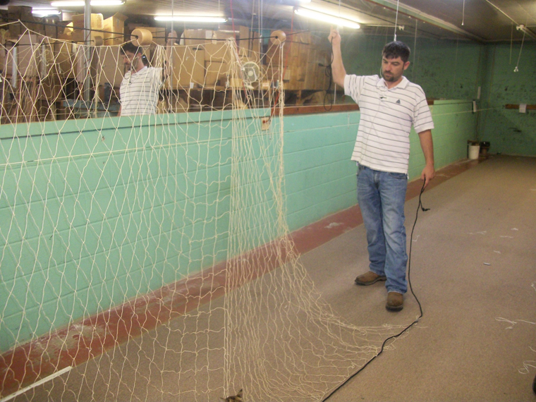 Nets and net making in the delta for How to make a fishing net