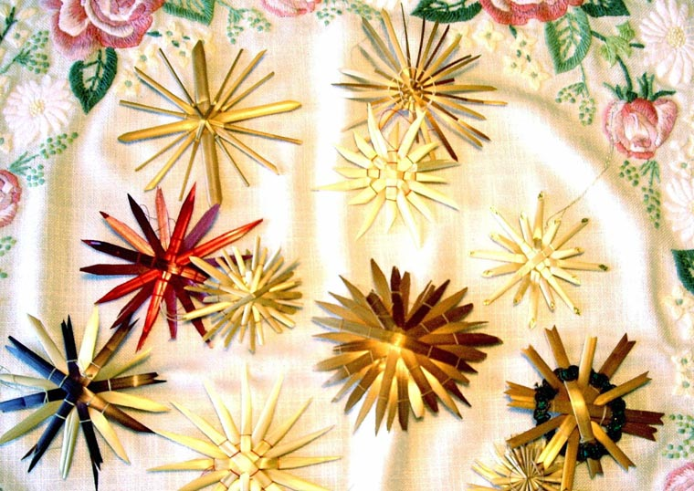 straw stars traditional german christmas ornaments woven by ingrid schleh crop 2007 photo laura westbrook