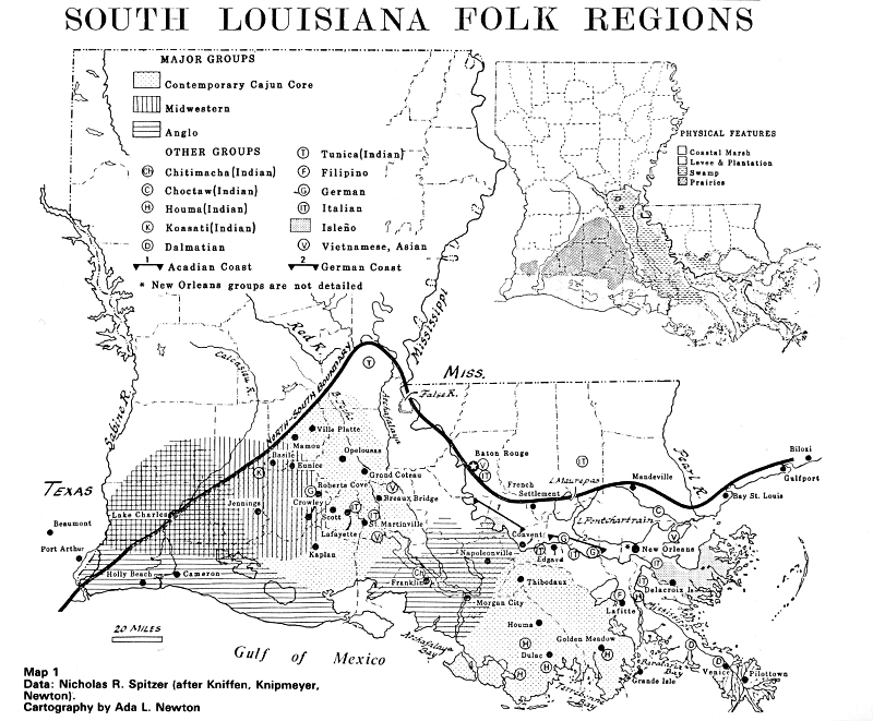 Outline of Louisiana Folklife Guide to the State