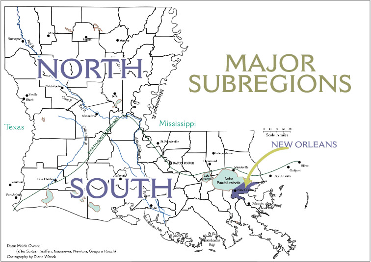 Maps Of Louisianas Living Traditions - Map of north louisiana