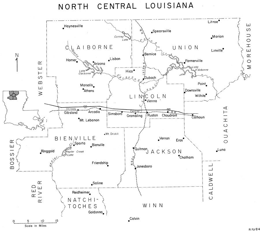 North Louisiana Map.Maps Of Louisiana S Living Traditions