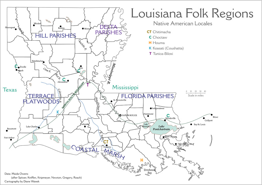 Louisiana Map Parishes.Maps Of Louisiana S Living Traditions